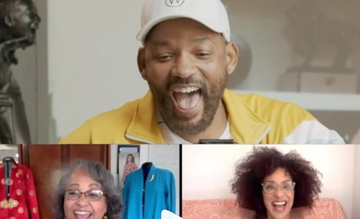 Will Smith's #WillAtHome Snapchat Series Featuring The Cast The Fresh Prince of Bel-Air