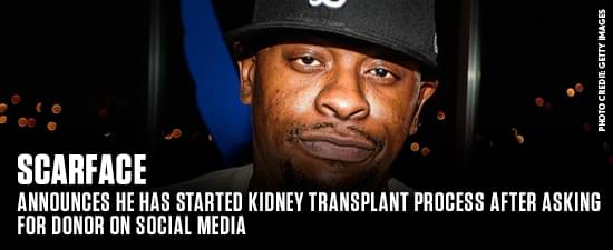 Scarface Announces He Has Started Kidney Transplant Process After Asking For Donor On Social Media