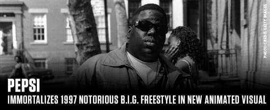 Pepsi Immortalizes 1997 Notorious B.I.G. Freestyle In New Animated Visual