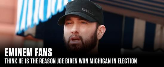 Eminem Fans Think He Is The Reason Joe Biden Won Michigan In Election