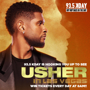 93.5 KDAY is Hooking You Up To See USHER…in LAS VEGAS!!!