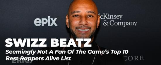 Swizz Beatz Seemingly Not A Fan Of The Game's Top 10 Best Rappers Alive List