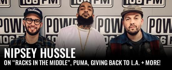 "Nipsey Hussle On ""Racks in The Middle"", Puma Deal, & Giving Back To L.A."