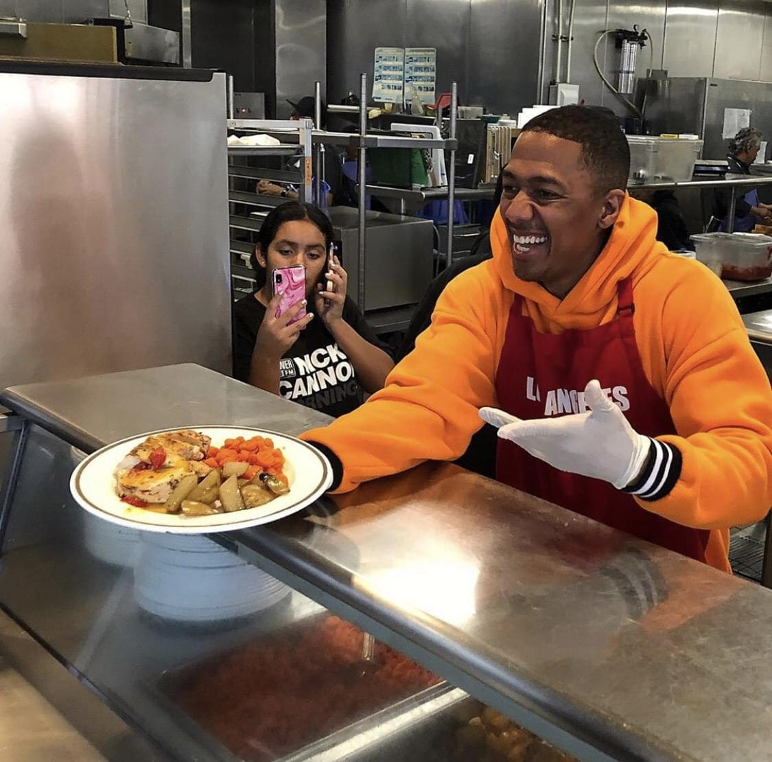Nick Cannon Mornings Serves at the LA Mission