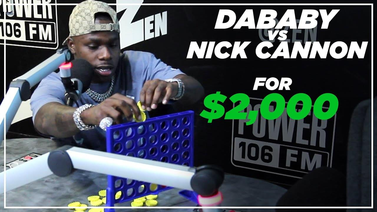 DaBaby VS Nick Cannon: $2k Connect Four Match