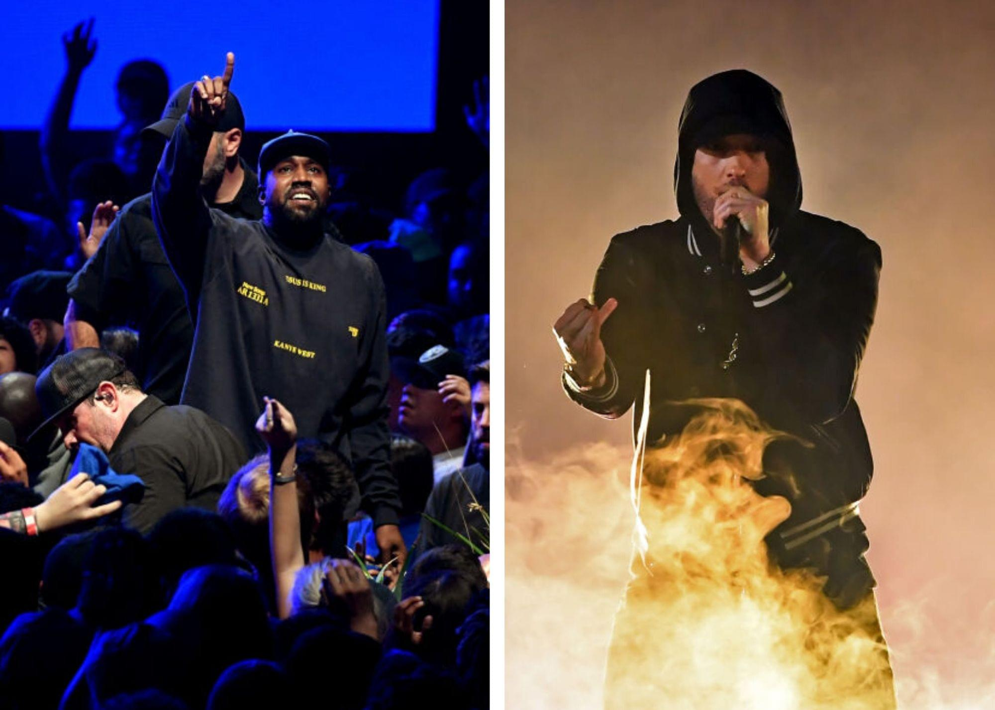 Kanye West's  Album 'Jesus Is King' Ties Eminem for Most Consecutive Albums At No. 1