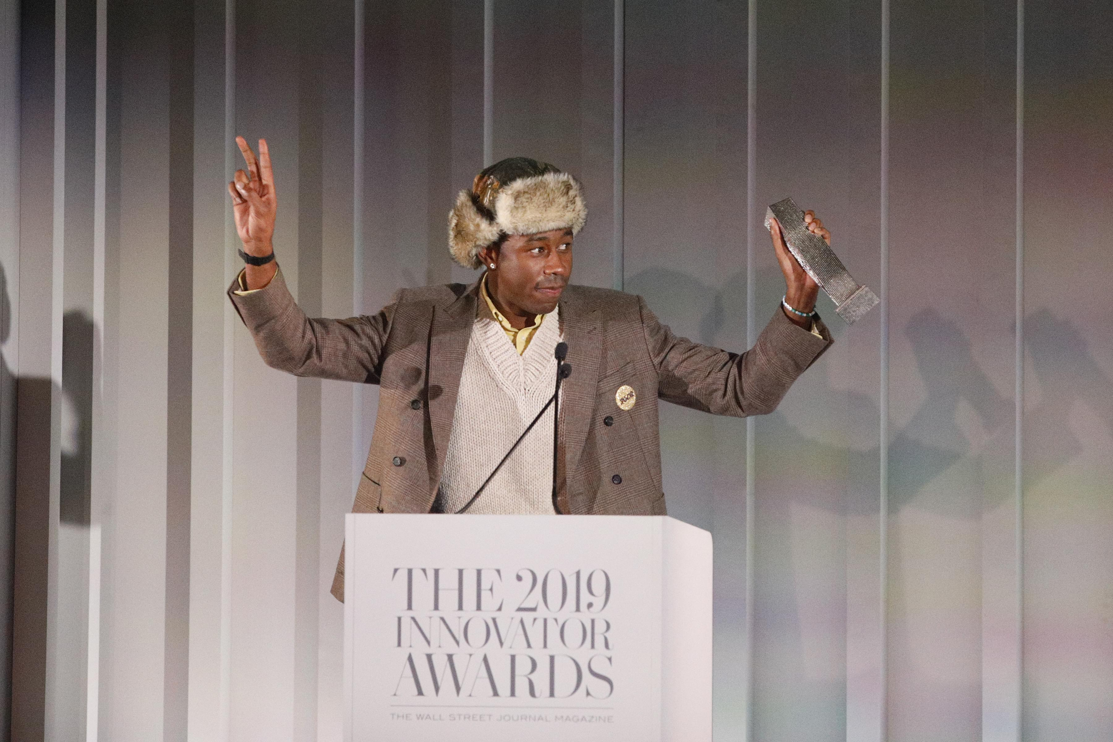 Tyler The Creator Receives Music Innovator Of The Year Award! [WATCH]
