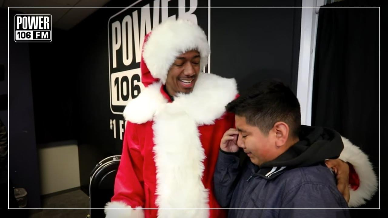 Nick Cannon Blessed 12-Year-Old Brandon With His Own Tuba For The Holidays
