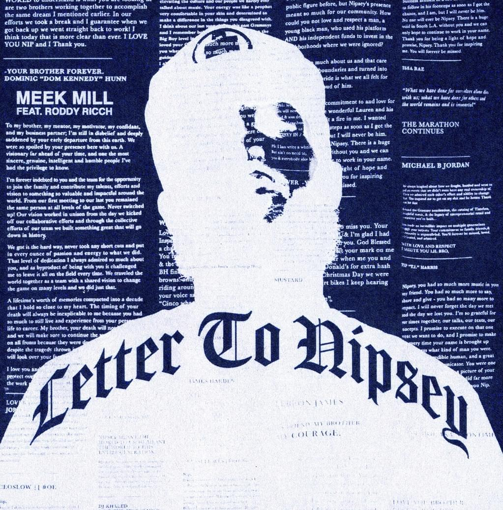"Meek Mill & Roddy Ricch Drop Tribute Track To Nipsey Hussle, ""Letter To Nipsey"""
