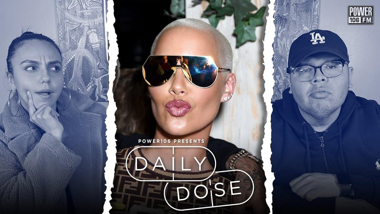 #DailyDose: Amber Rose & Chris Brown Hop On Early 2020 Face Tattoo Trend