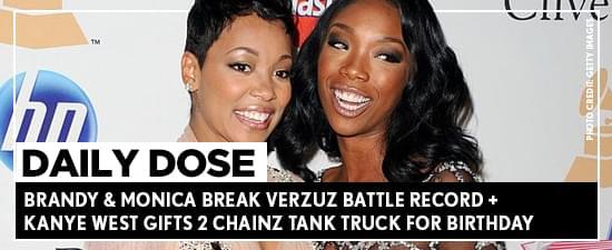 Brandy & Monica Break Verzuz Battle Record + Kanye West Gifts 2 Chainz Tank Truck For Birthday