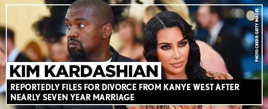Kim Kardashian Reportedly Files For Divorce From Kanye West After Nearly Seven Year Marriage