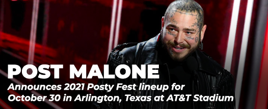 Post Malone Announces 2021 Posty Fest Lineup
