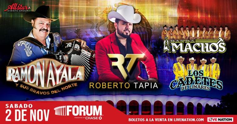 Regístrate para ganar un par de boletos para Ramón Ayala y Roberto Tapia