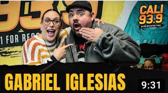 Gabriel Iglesias relates his comedy shows to each city he goes to