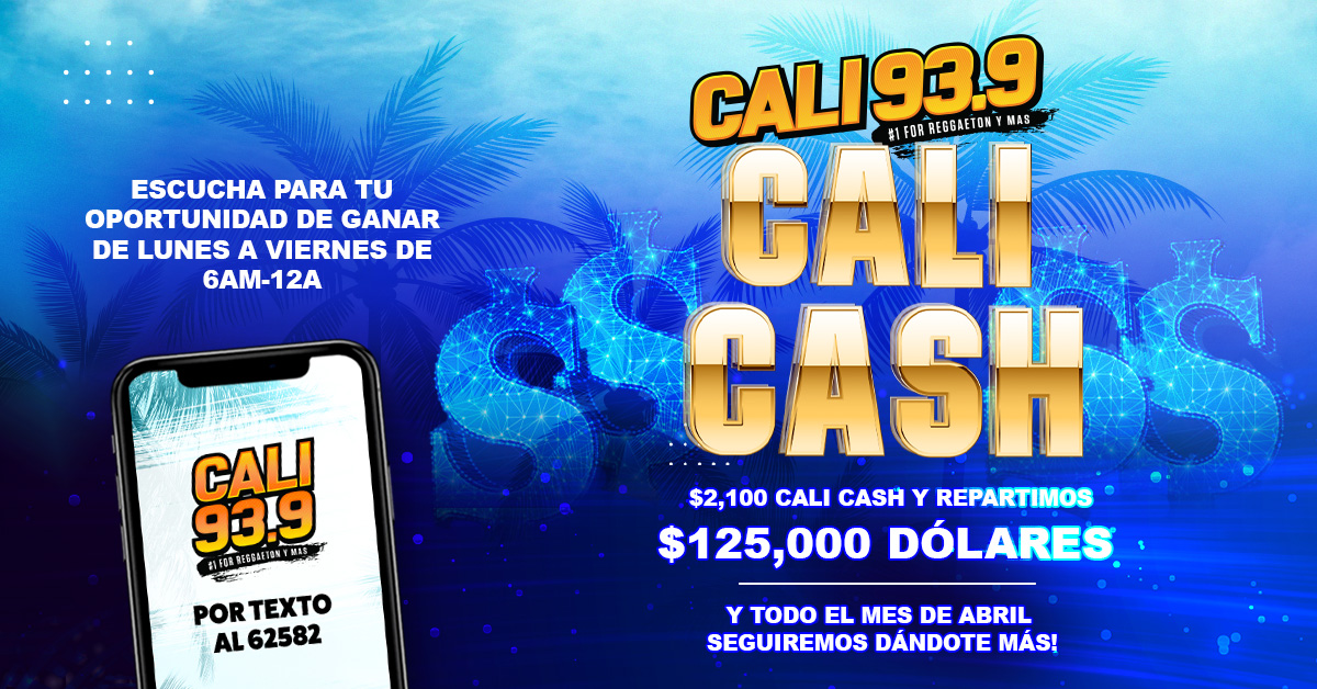 "Cali 93.9's ""$2100 Cali Cash"" Text-To-Win Contest!"