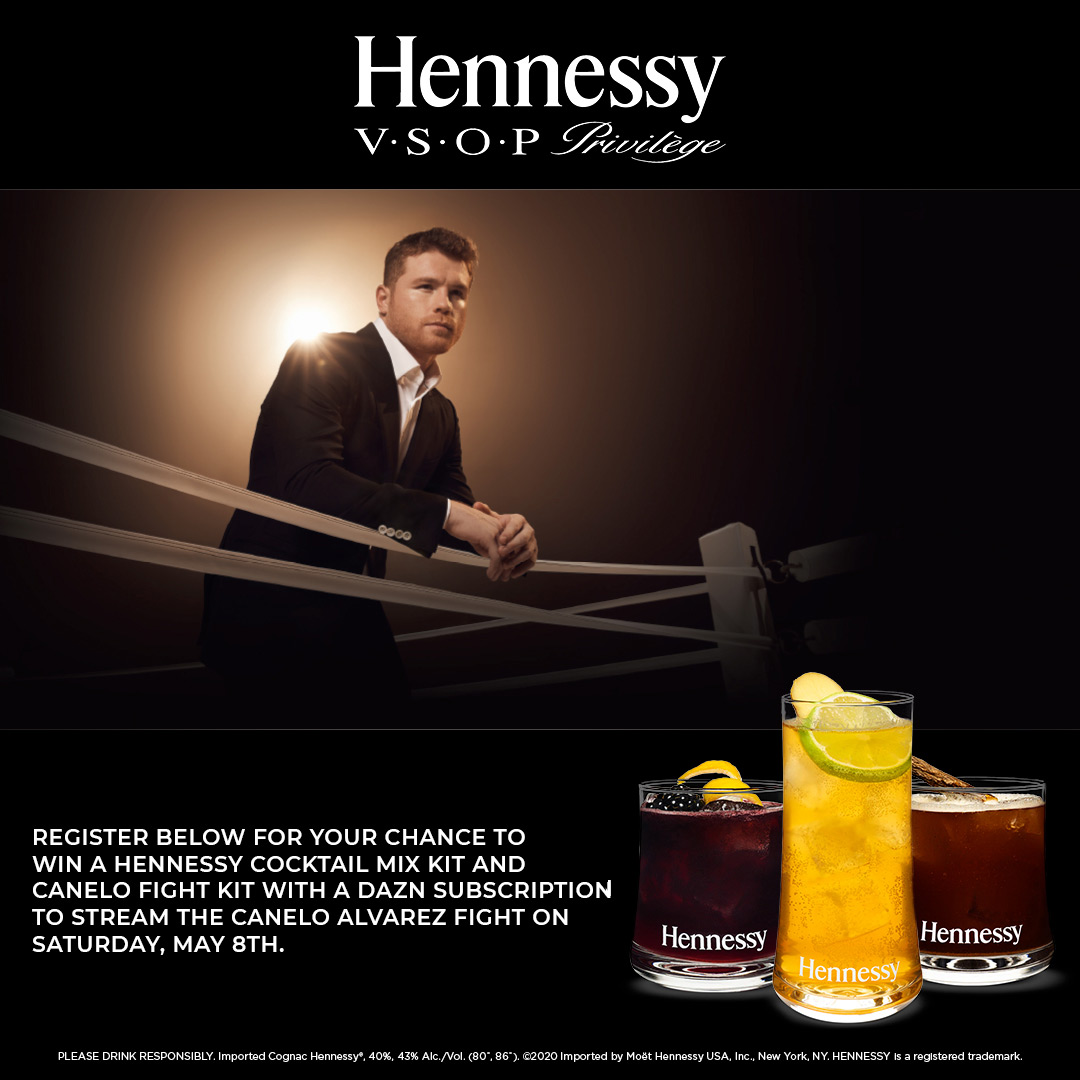 Win A Hennessy Cocktail Mix Kit and Canelo Fight Kit!!