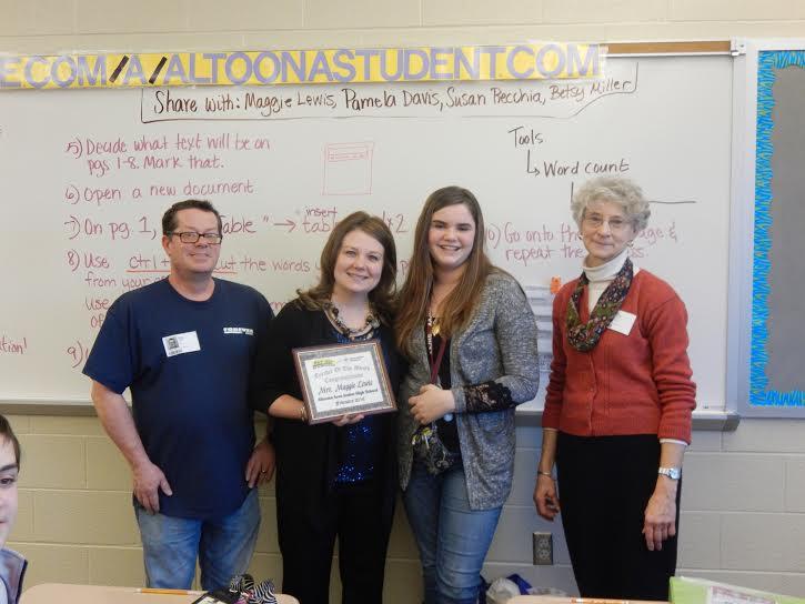Teacher of the Month for February 2016 - Mrs. Maggie Lewis - Altoona Area Junior High School, Altoona