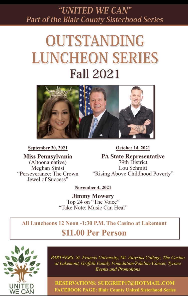 """Nov 4th – United We Can Fall Luncheon Speakers Series: Jimmy Mowery from """"The Voice"""""""