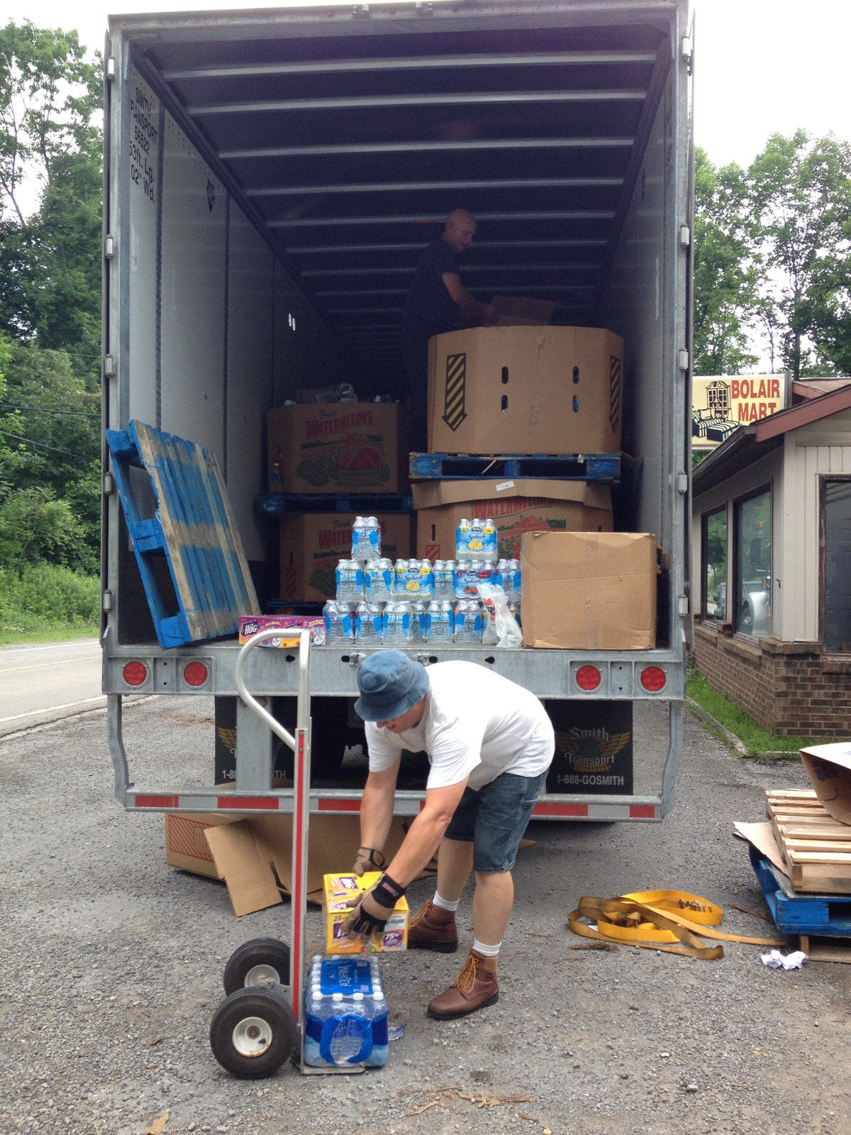 truck being unloaded in WV 07062016