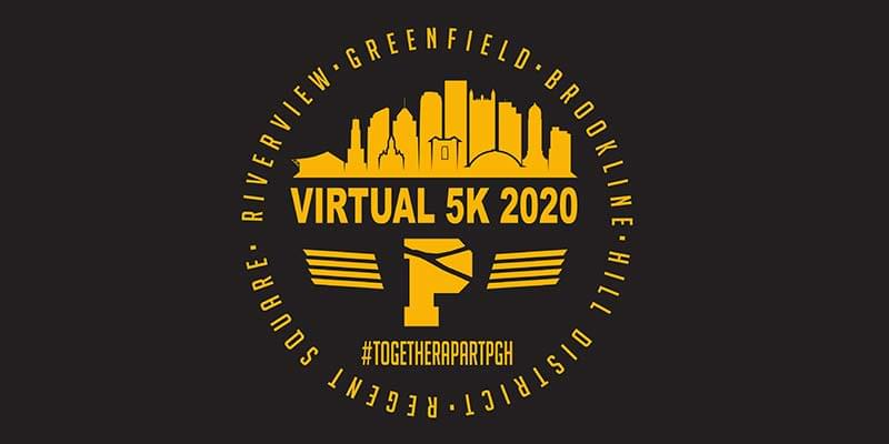 REGISTER TODAY FOR #TOGETHERAPARTPGH VIRTUAL 5K RACE‍