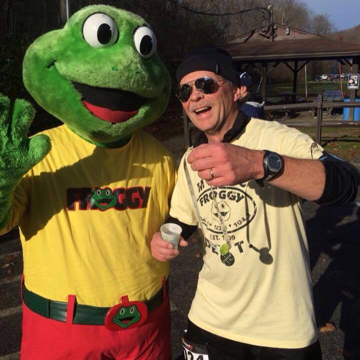 mr froggy and dave at race