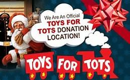 Toys For Tots collection with Rooster!