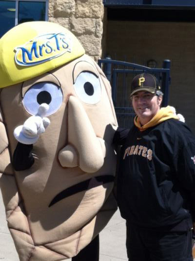 Rockin' Rich and one of the famous racing Pierogis at a recent Pirates game. Let's Go Bucs!!!
