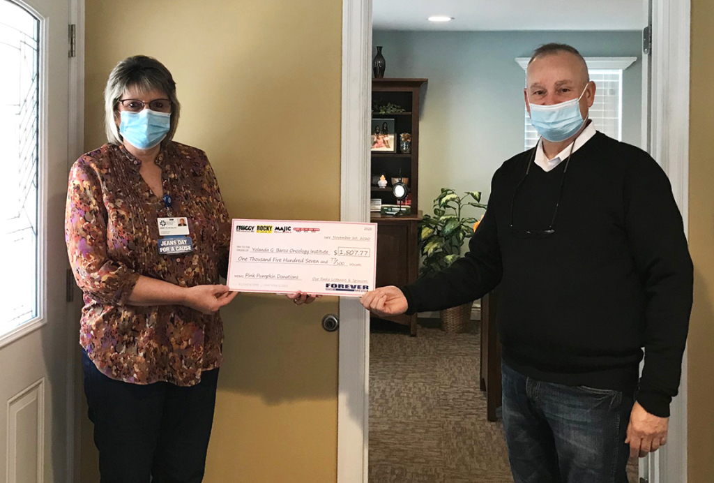 Donations from Crawford County Area Pink Pumpkins Presented to Meadville Medical Center Foundation