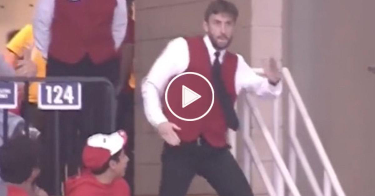 Watch: Hilarious Worker Dances at Houston Rockets Game
