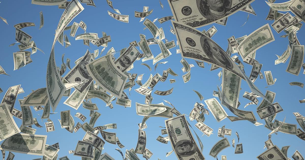 Cash Spills All Over Highway