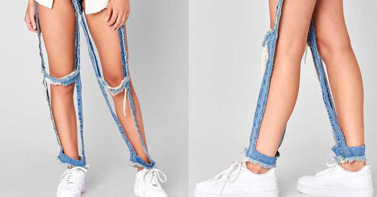"""OMG! """"Extreme cut out"""" jeans sell for $168"""