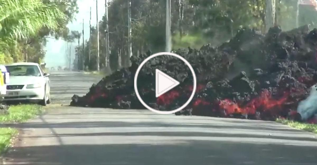 Watch: Lava Cam in Hawaii shows Lava Destroying Car