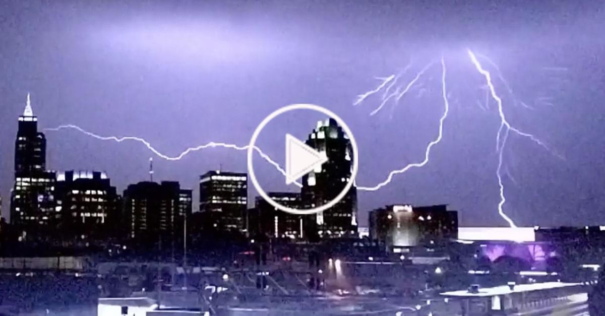 Watch: Wild Lightning in Raleigh