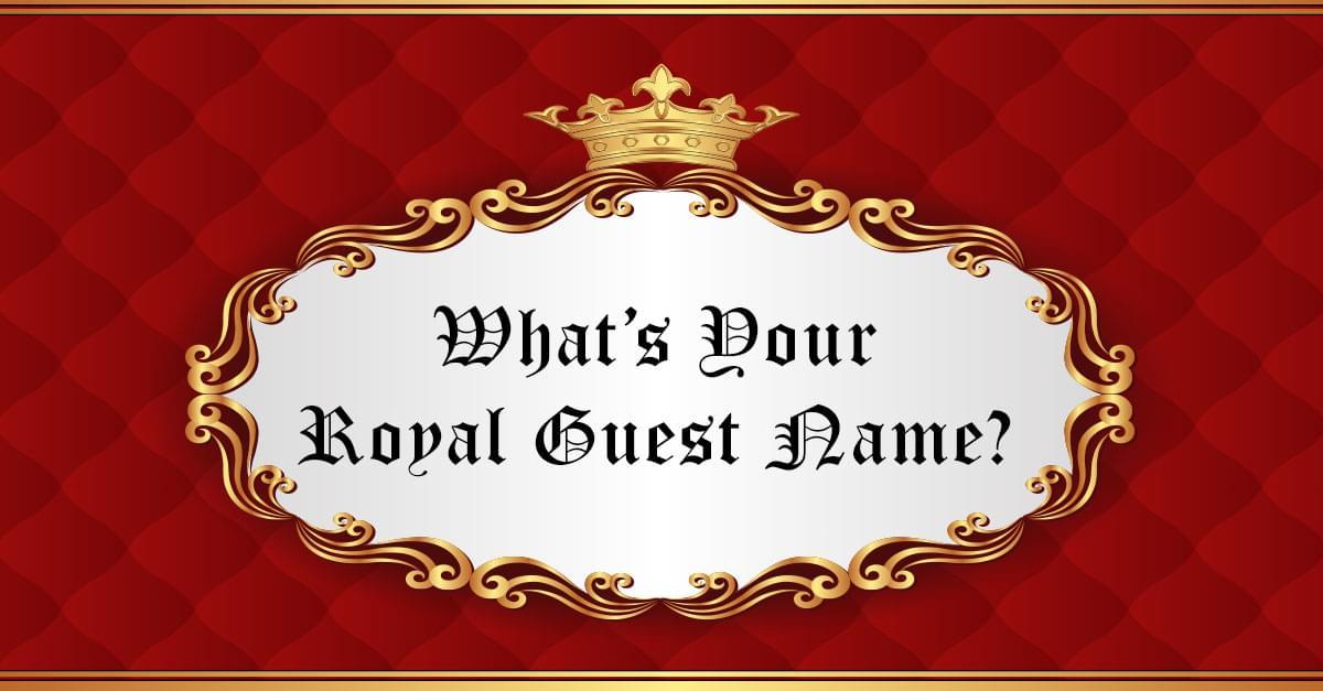 Royal Wedding Guest Name Generator
