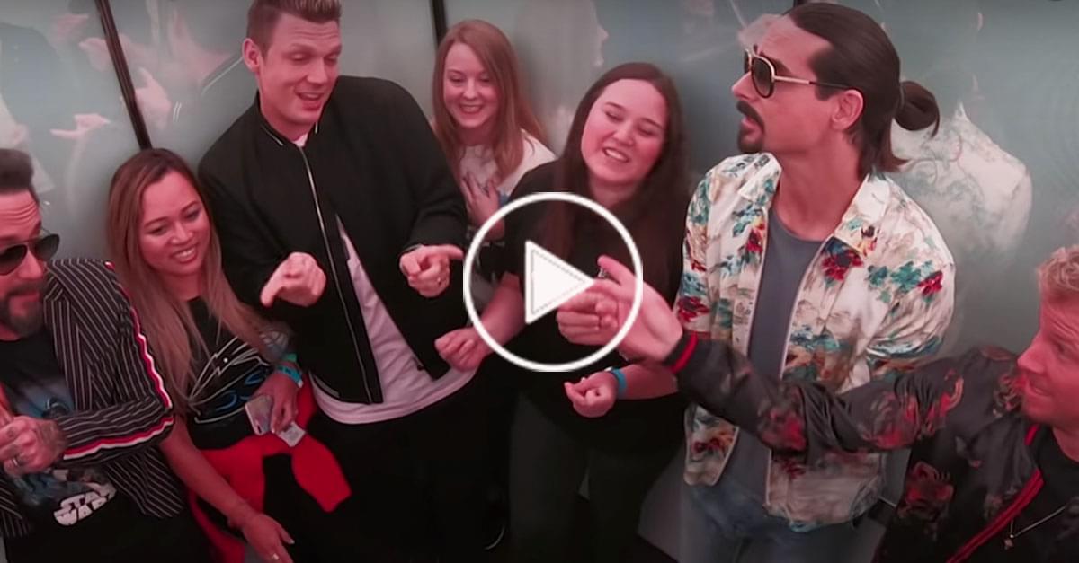 Watch: Backstreet Boys Surprise Fans in an Elevator