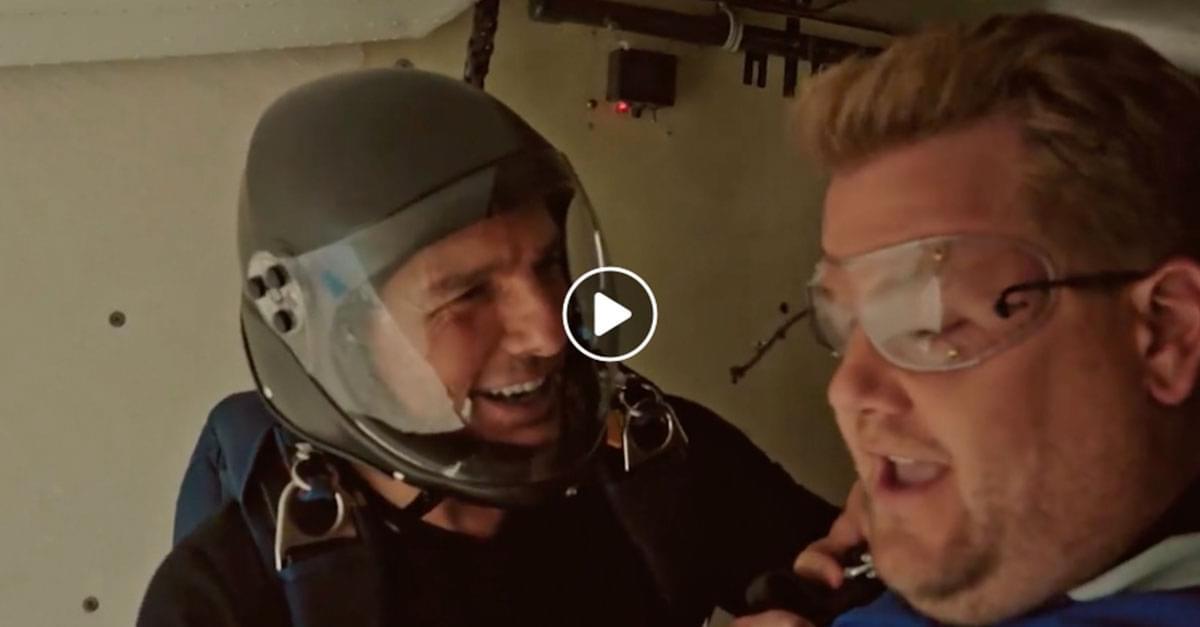 james corden skydiving