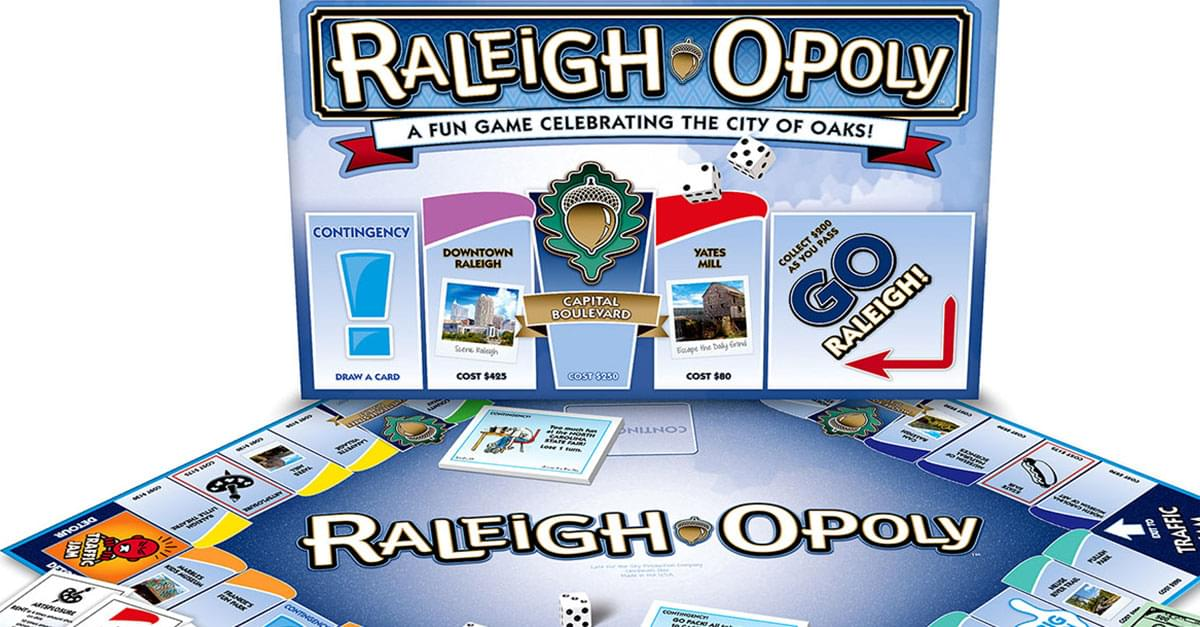 RALEIGH-OPOLY Board Game!