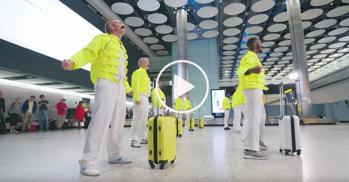 Watch: Heathrow Airport Tribute to Freddie Mercury