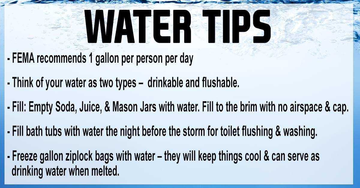 Be Prepared: Water Tips