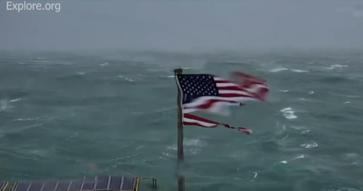 Frying Pan Tower American flag, named 'Kevin,' up for auction