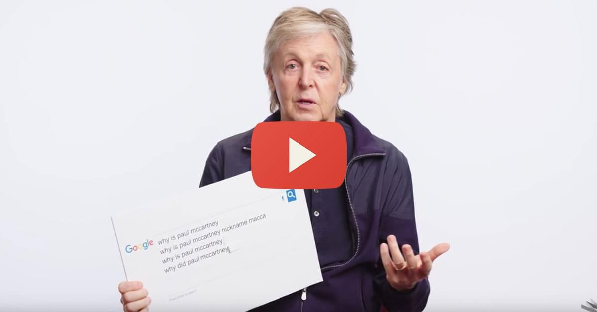 Watch: Paul McCartney Answers the Internet's Most Searched Questions