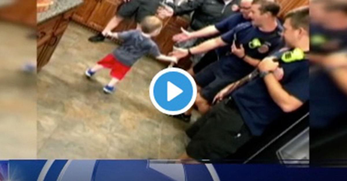 NC firefighters throw 3-yr-old's birthday party after friends cancel