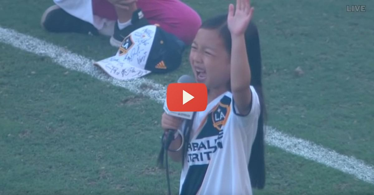 Watch: 7-year-old girl Nails National Anthem