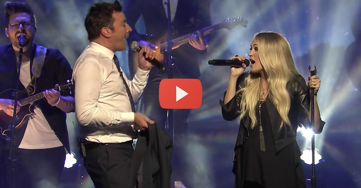 """Watch: Carrie Underwood and Jimmy Fallon Sing """"Islands in the Stream"""""""