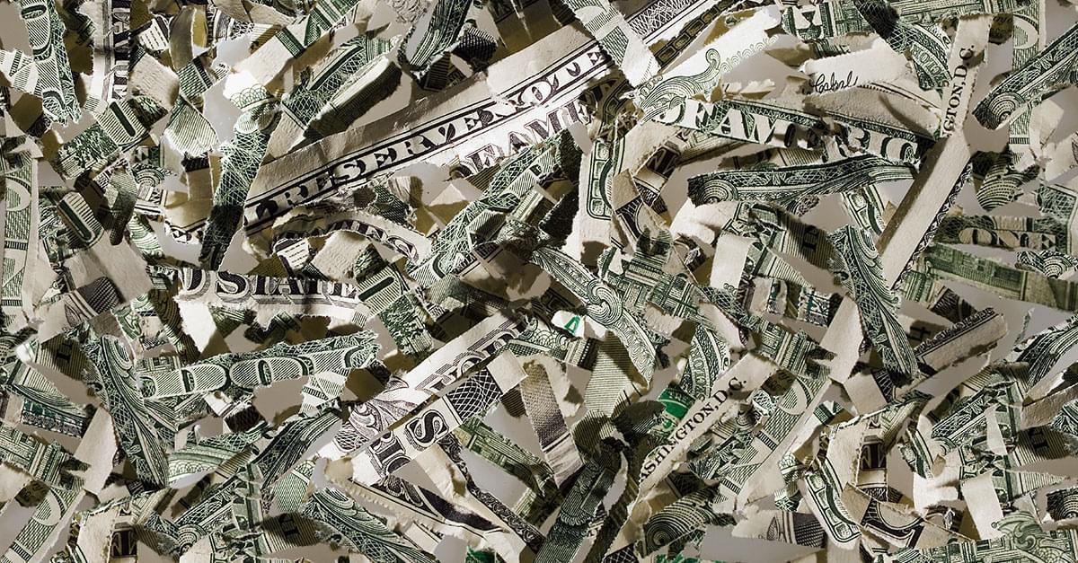 Toddler shreds more than $1,000!