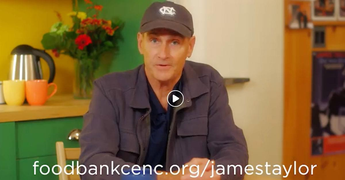 James Taylor Launches Million Meals Challenge for New Bern Aid