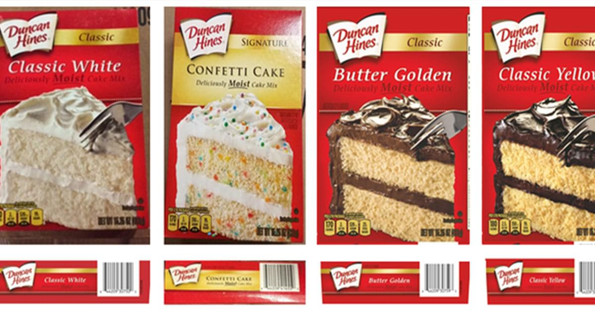 Duncan Hines Cake Mix Recall