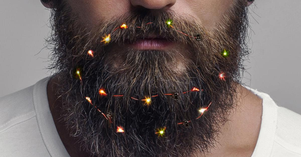 You Can Now Decorate Your Beard with Christmas Fairy Lights