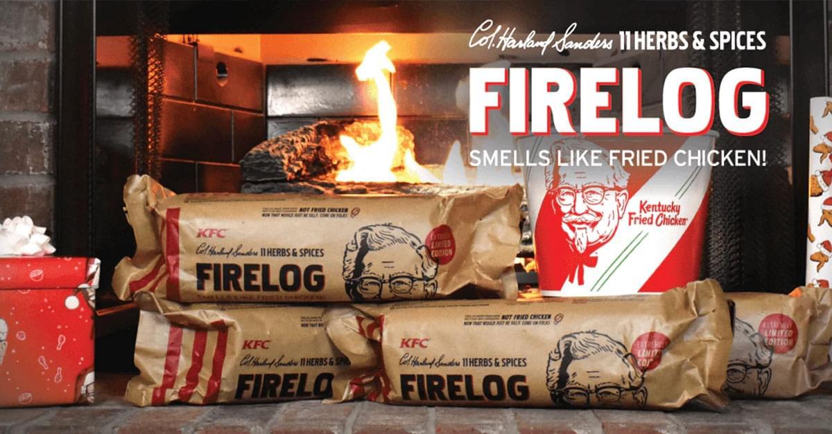 KFC Selling Firelog that Smells like Fried Chicken